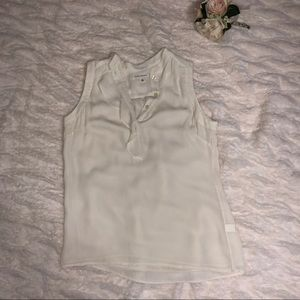 Banana republic tan blouse size 6